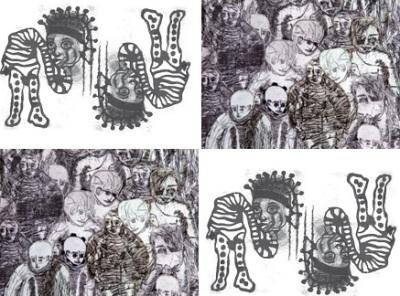 Obras de Luciano Bortoletto -Divulgação